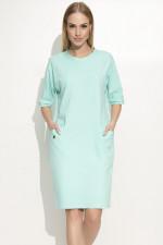 Makadamia M339 sukienka miętowy