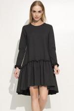 Makadamia M336 sukienka grafitowy melanż