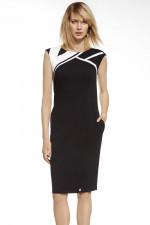 Ennywear 230003 sukienka czarny-ecru