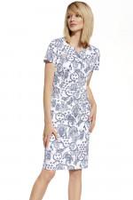 Ennywear 230037 sukienka biało-niebieski
