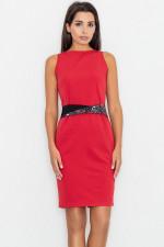 Figl M534 sukienka czerwony