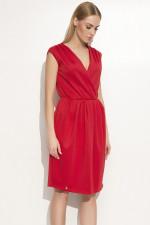 Makadamia M354 sukienka czerwony
