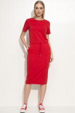 Makadamia M345 sukienka czerwony