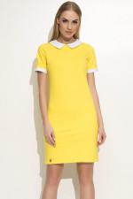 Makadamia M353 sukienka żółty
