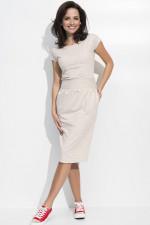 Numinou NU44 sukienka beżowy melanż