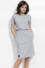 Numinou NU47 sukienka szary melanż