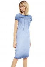 Ennywear 230109 sukienka niebieski-dżins