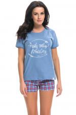 Dn-nightwear PM.9242 piżama red blue
