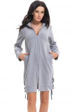 Dn-nightwear SSW.9266 szlafrok grey melange