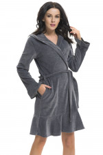 Dn-nightwear SMF.9206 szlafrok dark grey