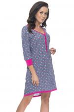 Dn-nightwear TM.4031 koszula grey dots