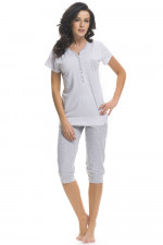 Dn-nightwear PM.9201 piżama grey melange