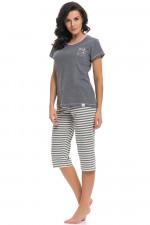 Dn-nightwear PM.9208 piżama dark grey