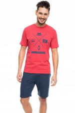 Rossli SAM-PY 079 piżama czerwony melange
