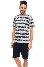 Rossli SAM-PY 084 piżama szary melange