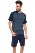 Rossli SAM-PY 090 piżama niebieski melange