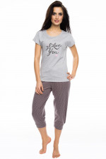 Rossli SAL-PY 1057 piżama szary melange