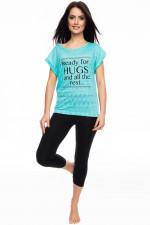 Rossli SAL-PY 1065 piżama miętowy ciemny