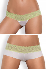 Obsessive Lacea shorties & thong duo pack szorty i stringi