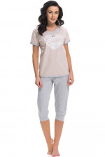 Dn-nightwear PM.9221 piżama sweet grey