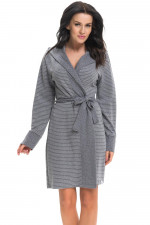 Dn-nightwear SCW.9269 szlafrok dark grey
