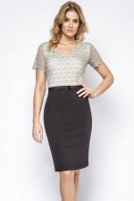 Ennywear 230202 sukienka czerń/szary