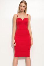 Makadamia M358 sukienka czerwony