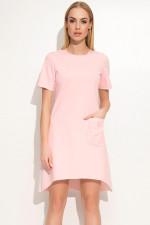 Makadamia M360 sukienka pudrowy róż