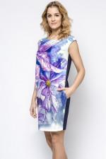 Ennywear 230182 sukienka granat-fiolet