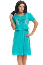 Dn-nightwear TCB.9226 koszula dark mint