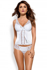 Obsessive Etheria corset gorset biały