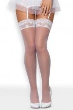 Obsessive Julitta stocking Klasyczne biały