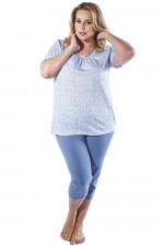 Italian Fashion Halina kr.r. sp.3/4 piżama błękit