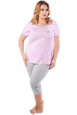 Italian Fashion Sana kr.r. sp.3/4 piżama różowy