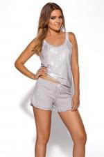 Ava PJ-38 piżama szary melanż