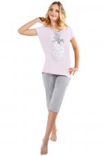 Italian Fashion Ksena kr.r. sp.1/2 piżama łosoś