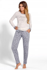 Babella 3108 piżama ecru-szary