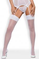 Obsessive S800 stockings Klasyczne biały