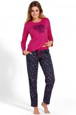 Babella 3109 piżama róż-grafit