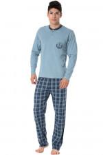 Rossli SAM-PY 097 piżama niebieski jasny