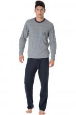 Rossli SAM-PY 098 piżama szary melange