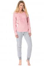 Rossli SAL-PY 1078 piżama różowy jasny