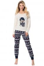 Rossli SAL-PY 1083 piżama beżowy melange