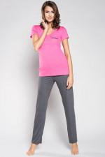 Italian Fashion Karolina kr.r. dł.sp. piżama róż/melanż