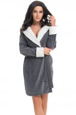 Dn-nightwear SDB.7059 szlafrok dark grey