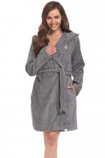 Dn-nightwear SDF.9303 szlafrok dark grey