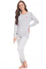Dn-nightwear PM.9328 piżama grey melange