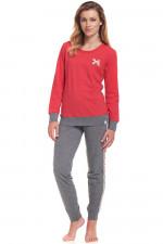 Dn-nightwear PM.9357 piżama red