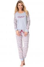 Rossli SAL-PY 1071 piżama szary melange