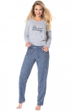 Rossli SAL-PY 1075 piżama szary melange